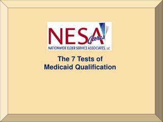 The 7 Tests of Medicaid Qualification