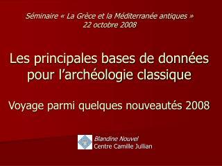 Blandine Nouvel Centre Camille Jullian