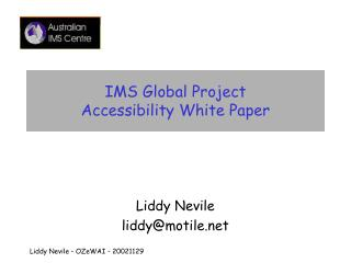 IMS Global Project Accessibility White Paper