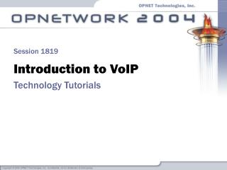 Introduction to VoIP Technology Tutorials