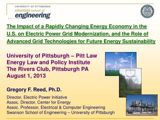 The Impact of a Rapidly Changing Energy Economy in  the