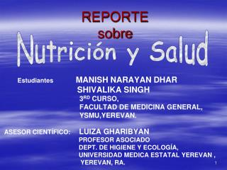 REPORTE sobre