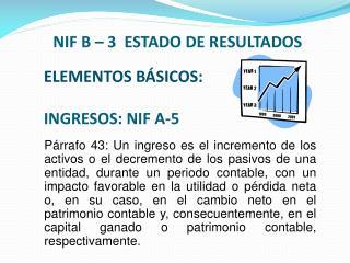 ELEMENTOS BÁSICOS: INGRESOS: NIF A-5