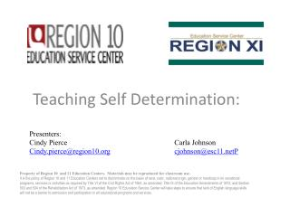 Teaching Self Determination: