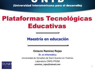Plataformas Tecnológicas Educativas