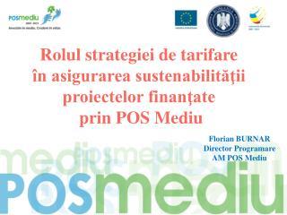Rolul strategiei de tarifare  în asigurarea sustenabilităţii  proiectelor finanţate