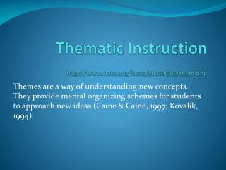 Thematic Instruction netc/focus/strategies/them.php