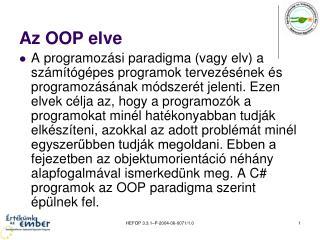 Az OOP elve