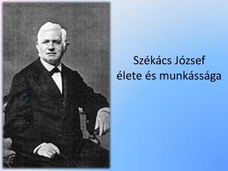Székács József  élete és munkássága