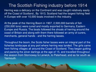 The Scottish Fishing industry before 1914
