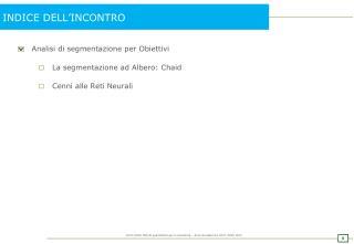 INDICE DELL�INCONTRO