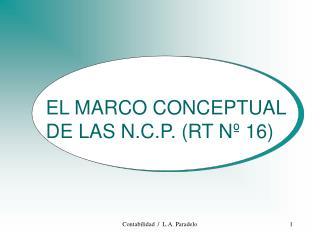 EL MARCO CONCEPTUAL DE LAS N.C.P. (RT Nº 16)