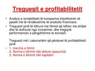 Treguesit e profitabilitetit