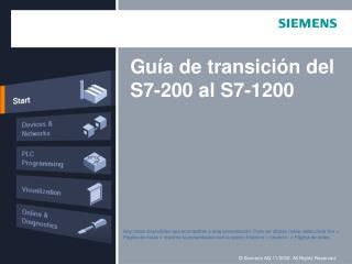 Guía de transición del  S7-200  al S7-1200