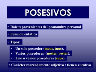 POSESIVOS