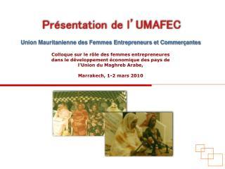 Union Mauritanienne des Femmes Entrepreneurs et Commerçantes