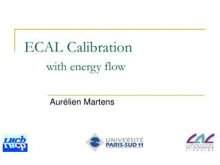 ECAL Calibration with energy flow