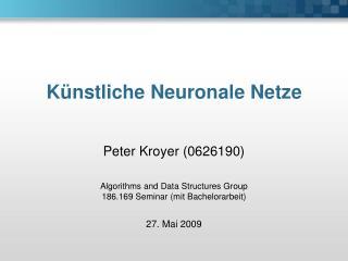 K�nstliche Neuronale Netze