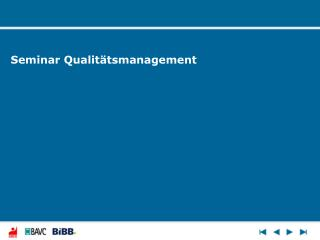 Seminar Qualit tsmanagement