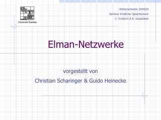Elman-Netzwerke