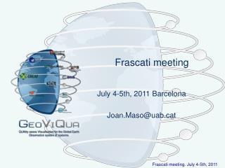 Frascati meeting