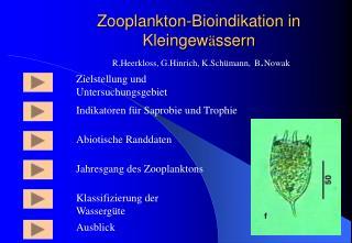 Zooplankton-Bioindikation in Kleingew ä ssern