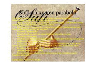 Sufí maixuaren parabola