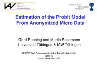 Estimation of the Probit Model From Anonymized Micro Data