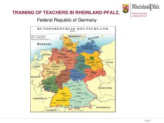 Training of teachers in Rheinland-Pfalz,