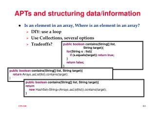 APTs and structuring data/information