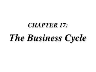 CHAPTER 17:  The Business Cycle