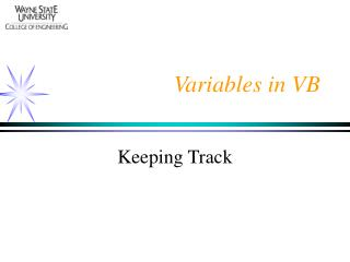 Variables in VB