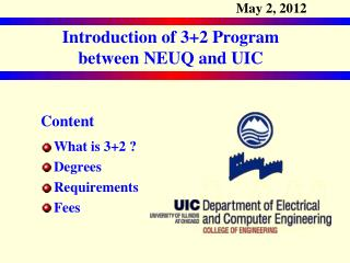 Content What is 3+2 ? Degrees Requirements Fees