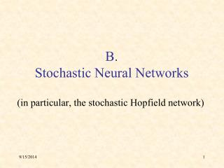 B. Stochastic Neural Networks