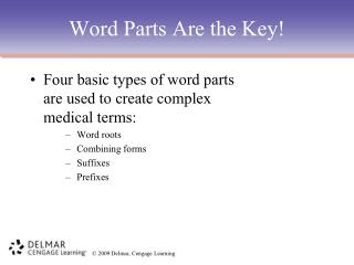 Word Parts Are the Key!