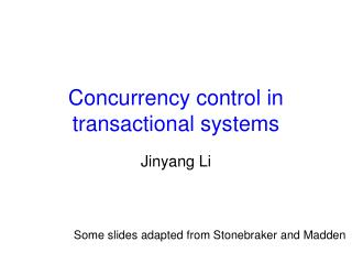 Concurrency control in transactional systems