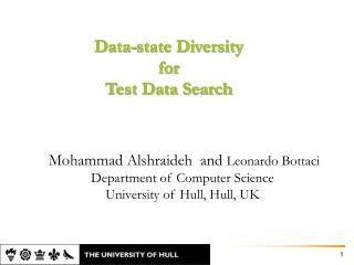 Data-state Diversity  for  Test Data Search