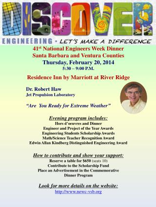 41 st  National Engineers Week Dinner Santa Barbara and Ventura Counties