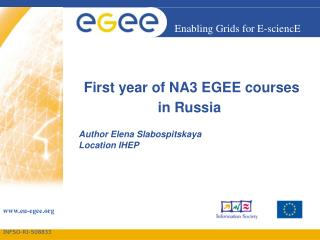 First year of NA3 EGEE courses in Russia
