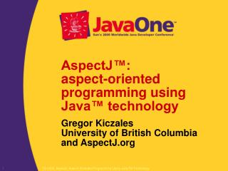 AspectJ™: aspect-oriented programming using Java™ technology