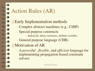 Action Rules (AR)