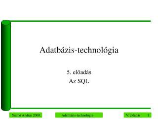 Adatbázis-technológia