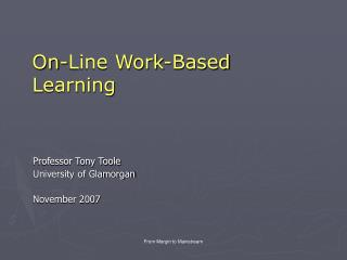 On-Line Work-Based Learning
