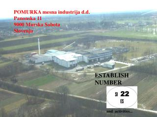 POMURKA mesna industrija d.d. Panonska 11 9000 Murska Sobota Slovenja