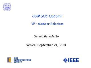 Sergio Benedetto Venice, September 21,  2011