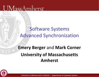 Software Systems Advanced Synchronization