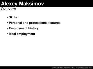 Alexey Maksimov