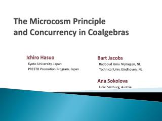 The Microcosm Principle  and Concurrency in  Coalgebras