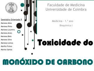 Toxicidade do MON�XIDO DE CARBONO