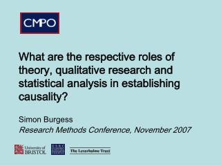 What are the respective roles of theory, qualitative research and statistical analysis in establishing causality
